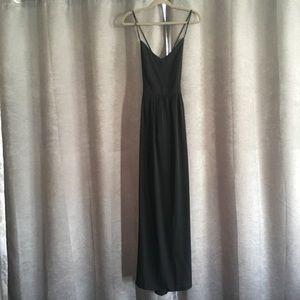 Tobi Black Criss Cross Backless Maxi Dress